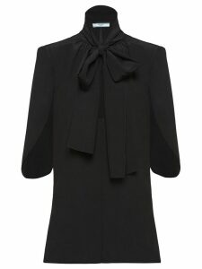 Prada pussybow half sleeves blouse - Black