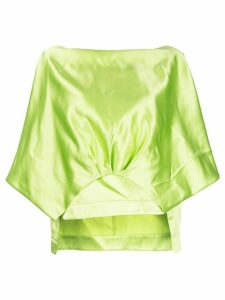 Rosie Assoulin low black blouse - Green