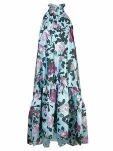 Erdem floral print flared dress - Blue