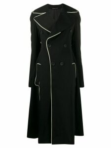 Yohji Yamamoto flared-style double-breasted coat - Black