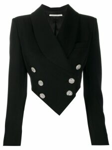 Alessandra Rich embellished button blazer - Black