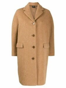 Aspesi brushed finish cocoon coat - Neutrals