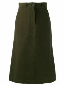 Aspesi high-waisted flared skirt - Green
