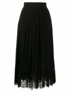 Dolce & Gabbana flared lace-hem skirt - Black