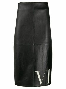 Valentino VLTN print pencil skirt - Black