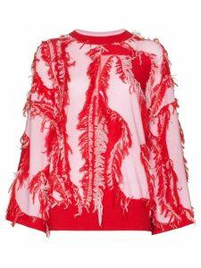 i-am-chen fringed knit jumper - Red