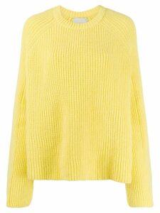 Laneus crew-neck knit sweater - Yellow