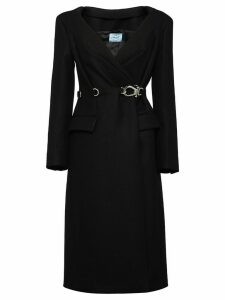 Prada double cloth coat - Black