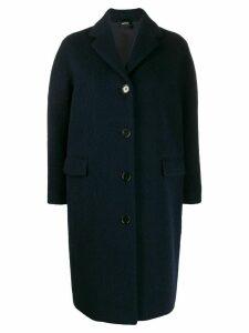 Aspesi brushed soft knit overcoat - Blue