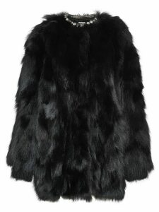 Miu Miu fur short coat - Black
