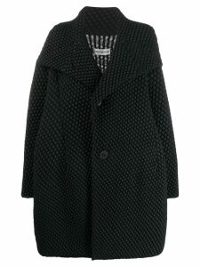 Issey Miyake oversized quilted coat - Black