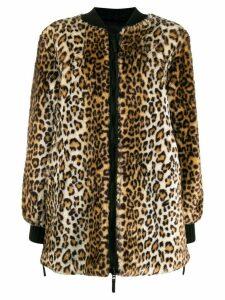 Ermanno Ermanno leopard-print coat - Brown