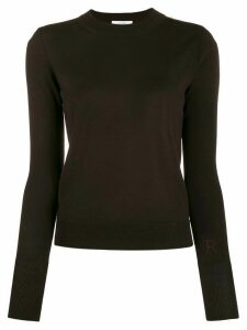 Roseanna Basic gloss fitted top - Brown