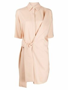 Victoria Victoria Beckham belted mini dress - Neutrals