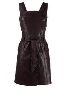 Nanushka Charo vegan leather pinafore dress - Purple