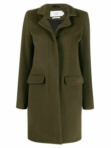 Closed single-breasted coat - Green