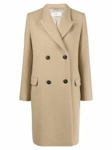 Closed double-breasted coat - Neutrals
