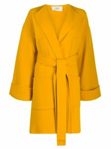 Ports 1961 belted waist coat - Yellow