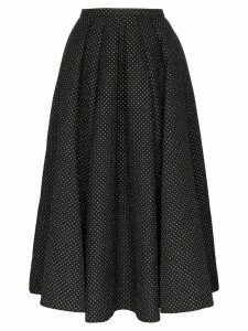Rosie Assoulin glitter polka dot full skirt - Black
