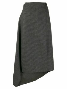 Ports 1961 houndstooth asymmetric skirt - Blue
