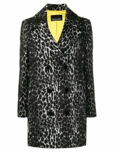 Ermanno Ermanno animal-print coat - Grey