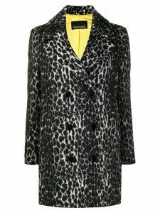 Ermanno Ermanno animal-print coat - Grey