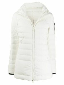 Peuterey padded zip-front coat - White