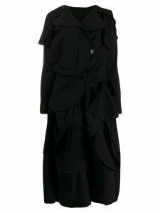 Yohji Yamamoto appliqué detail coat - Black