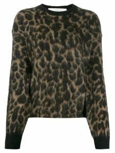 Golden Goose leopard print jumper - Brown