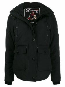 Moose Knuckles hooded parka coat - Black