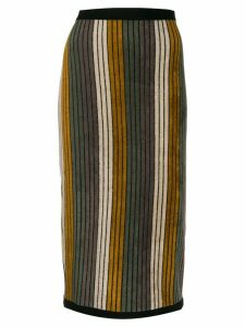 Antonio Marras striped pencil skirt - Grey