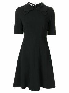 Stella McCartney bow-collar flared dress - Blue