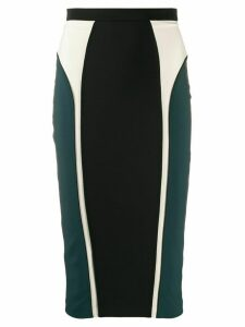 Elisabetta Franchi colour-block pencil skirt - Black