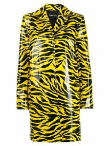 Kwaidan Editions tiger print car coat - Yellow