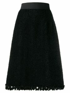 Dolce & Gabbana textured A-line skirt - Black