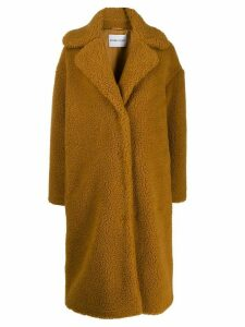 STAND STUDIO oversized shearling coat - Brown