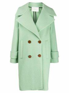 Tela felt double-breasted coat - Green