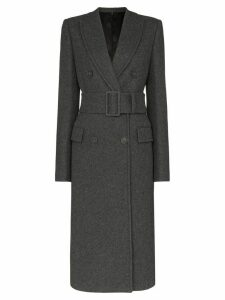 Helmut Lang belted double-breasted coat - Grey