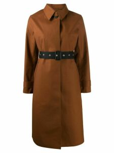 Mackintosh belted button up trench coat - Brown