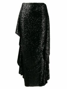 Paula Knorr draped sequinned skirt - Black