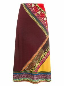 Etro printed A-line skirt - Red