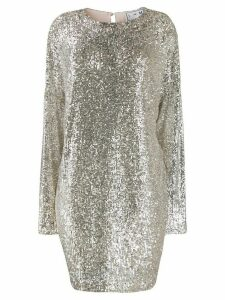In The Mood For Love sequinned shift dress - SILVER