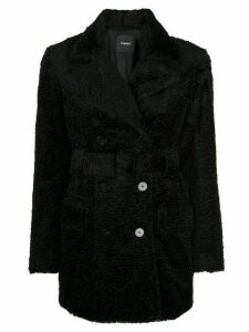 Theory soft-knit peacoat - Black