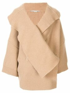 Stella McCartney oversized chunky knit cardi-coat - Brown