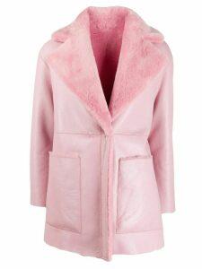 Blancha single breasted coat - PINK