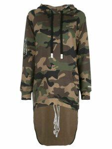 Haculla Pardon extended hoodie - Green