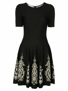 Oscar de la Renta brocade detail dress - Black