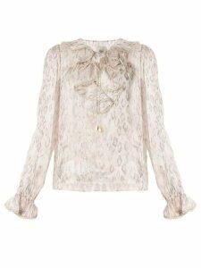 Aje Anais ruffled blouse - Pink