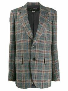 Junya Watanabe oversized plaid blazer - Grey