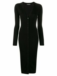 Dolce & Gabbana slim-fit knitted dress - Black